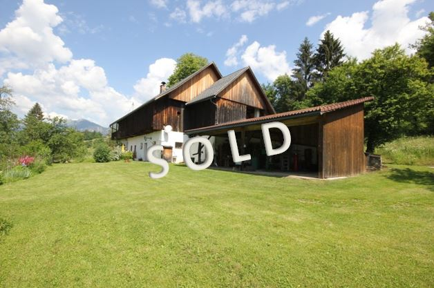 SOLD – Idyllic, small farm with beautiful house in sunny and quiet position