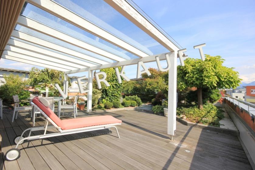 VERKAUFT – Exklusive Penthouse-Maisonette mit Dachterrassengarten in ruhiger Lage