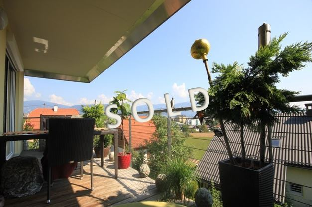 SOLD – Fantastic apartment with balcony, terrace and garden and panoramic view