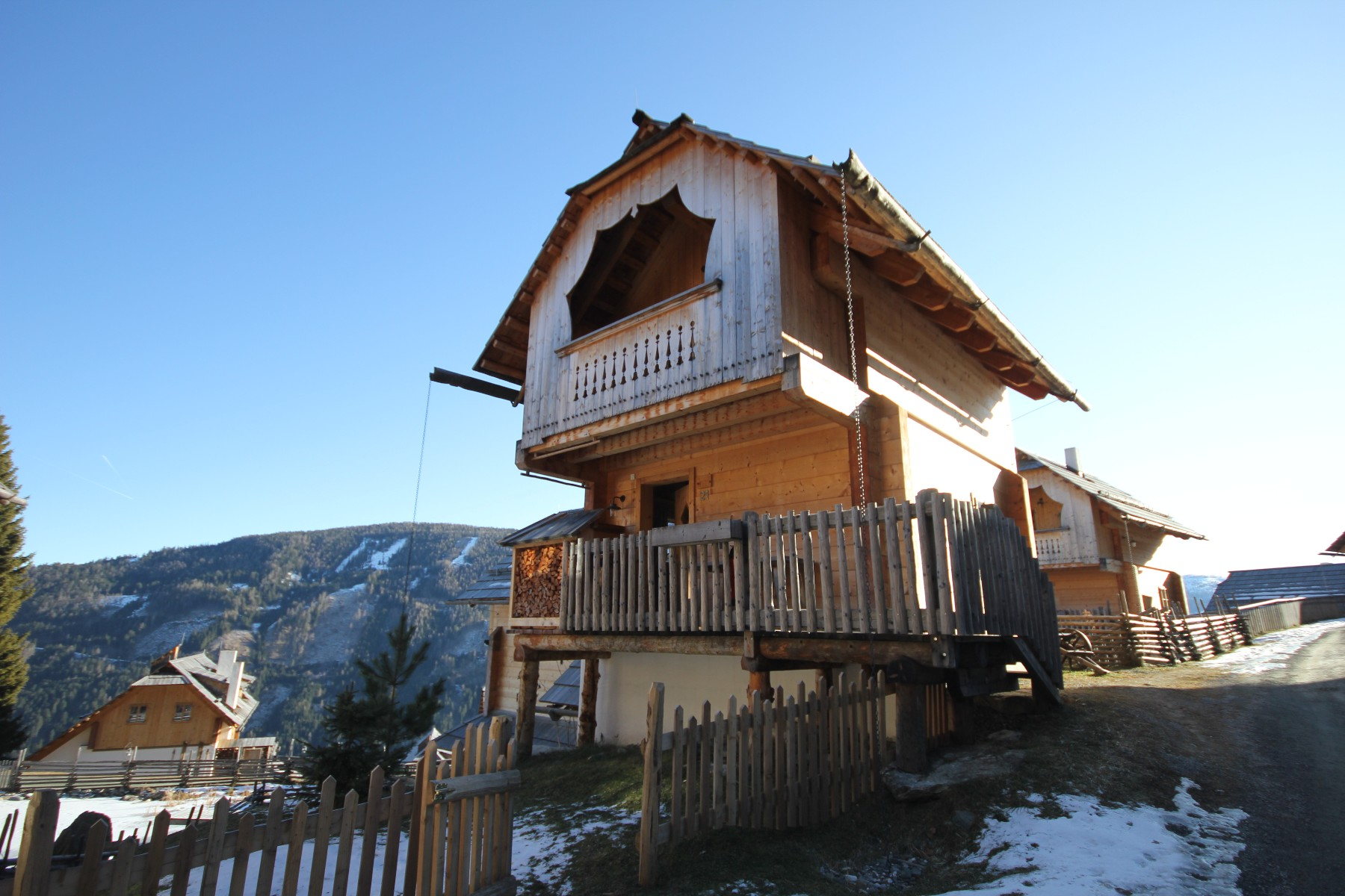 High class cottage at the Falkert mountain in the middle of the Carinthian Nockberge
