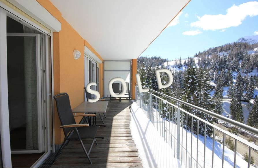 SOLD-Modern holiday-apartment with balcony and sauna directly at the slopes