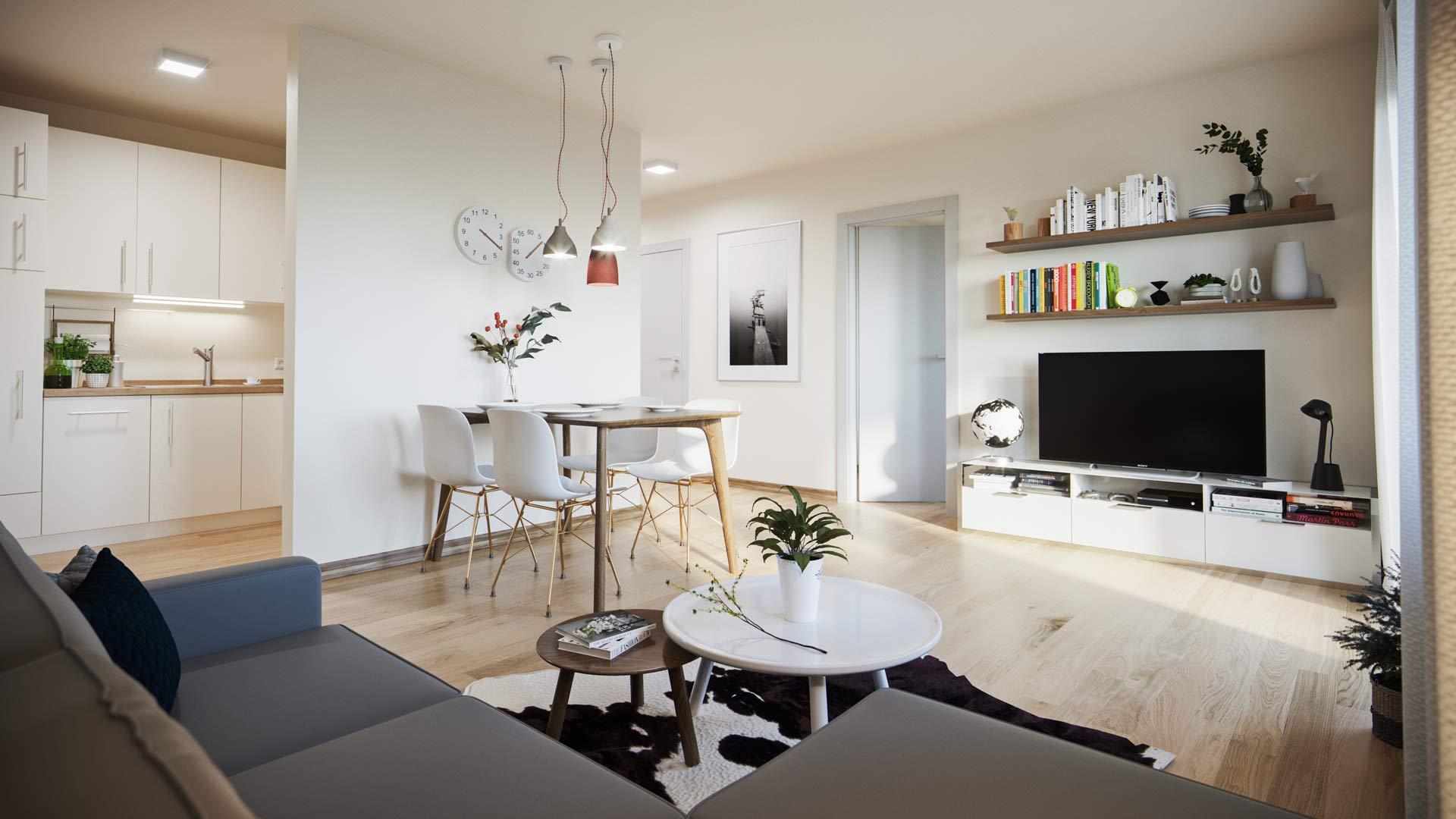ANLEGER AUFGEPASST! – Moderne 2-Zimmer-Neubauerdgeschosswohnung mit Terrasse und Garten